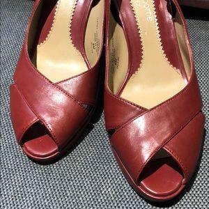 Liz Claiborne flex heels/red 6M
